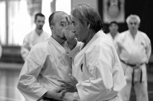 Sensei Chinen 9è Dan Hanshi et Thierry MICHEL