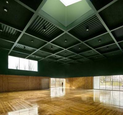 Intérieur de la Salle d'arts martiaux du CSDH